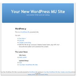 Image of default homepage