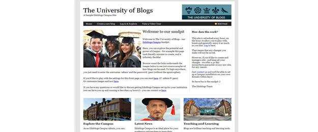 Image of University of Blog theme