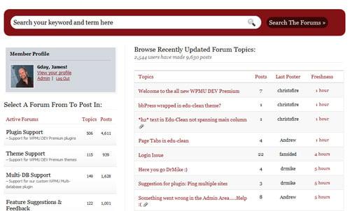 WordPress MU Forums