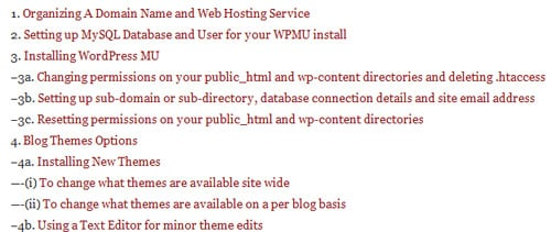 Teh WordPress MU manual