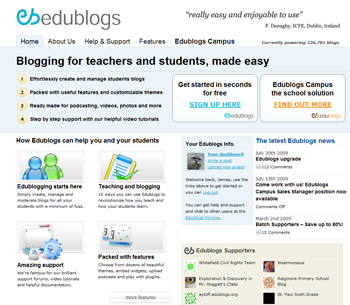 The Edublogs Homepage Theme