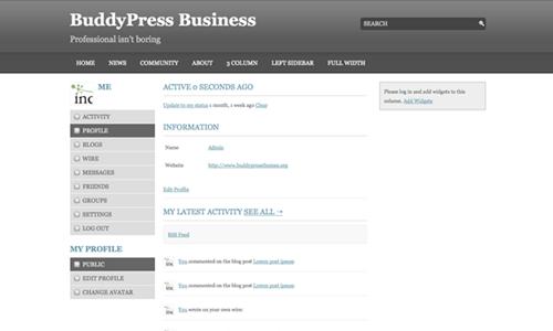 BuddyPress Business Members Page