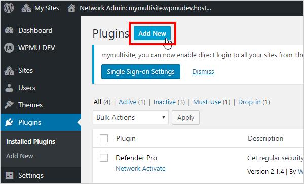 Multisite Plugins Add New