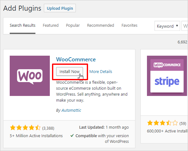 Multisite Plugins Install Now button