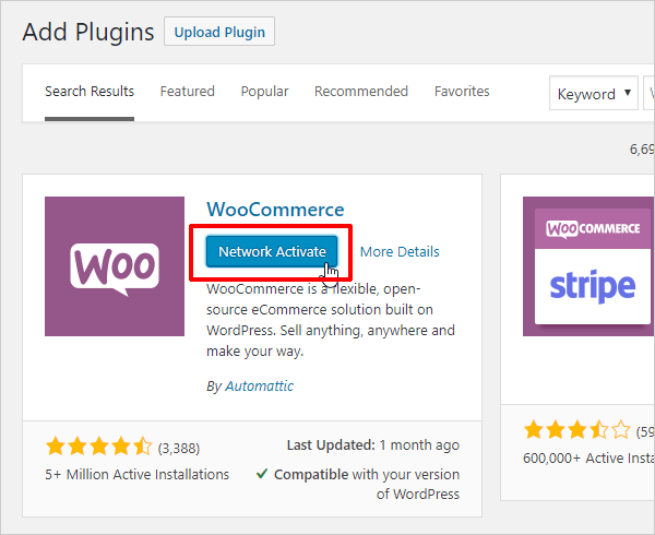 Multisite Plugins Network Activate button