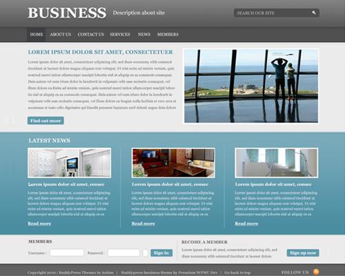 BuddyPress Business powerful new theme for BuddyPress