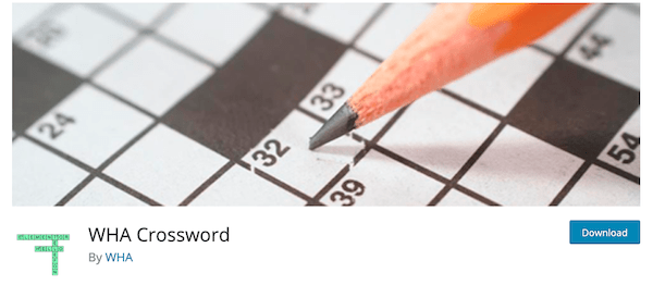 A look at the WordPress plugin WHA crossword