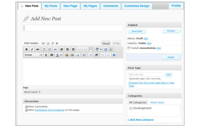 Easy Blogging Screenshot