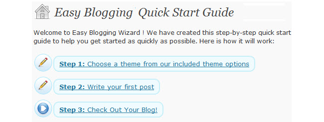 Easy Blogging Wizard Screengrab