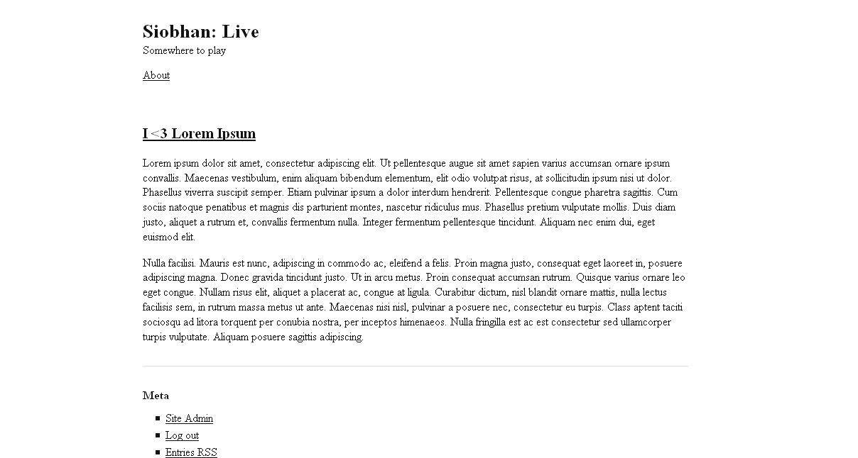 Screenshot of Simplest WordPress theme