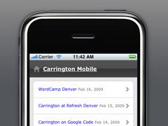screenshot of carrington mobile theme