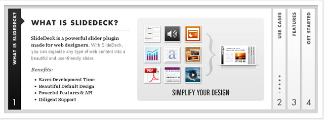 Screenshot of Slidedeck WordPress plugin