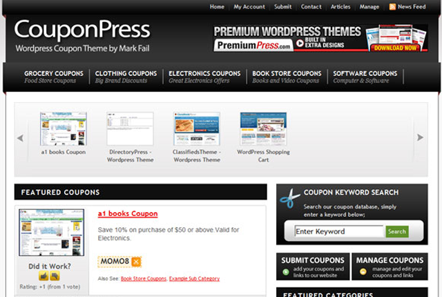 Screenshot of CouponPress Premium WordPress Theme