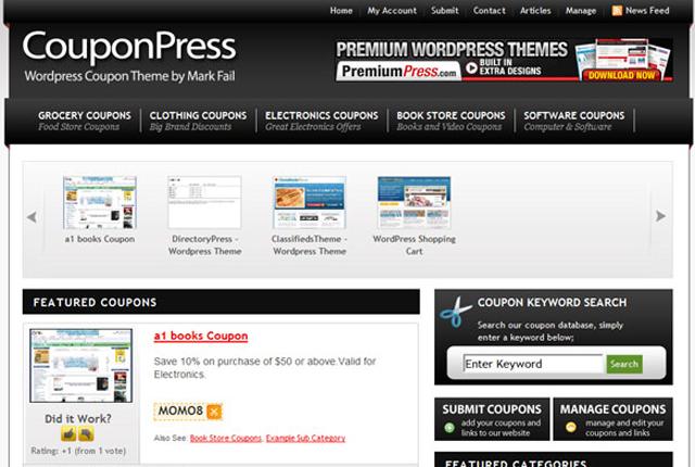 Screenshot of CouponPress Premium WordPress Theme