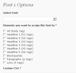 Google Font WordPress plugin options