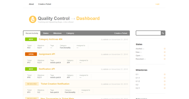 Screenshot of Quality Control WordPress Theme