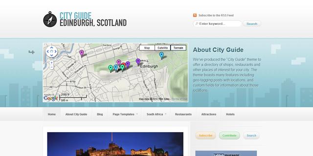 Screenshot of cityGuide Premium WordPress Theme