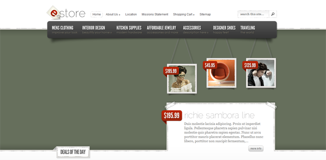 Screenshot of WordPress eStore Theme