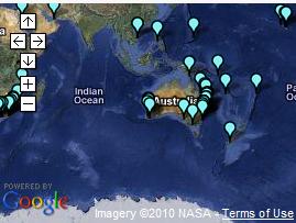 Screenshot of a GeoMashup Map