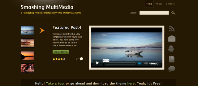 screenshort of smashing multimedia wordpress plugin