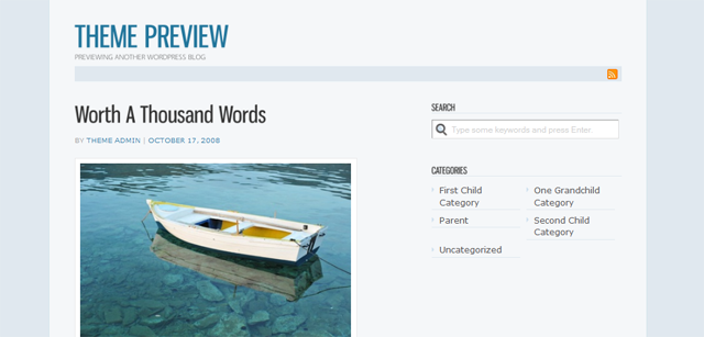 Screenshot of Jenny WordPress Theme