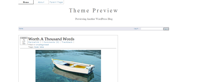 Screenshot of Oenology WordPress Theme