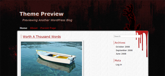 Screenshot of Zombie Apocalypse WordPress Theme