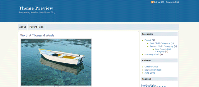Screenshot of abc OK WordPress Theme