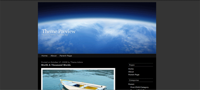 Screenshot of atmosphere wordpress theme