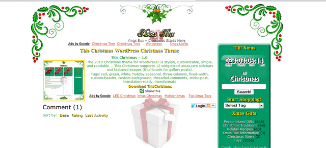 Screenshot of Christmas Theme  WordPress Theme