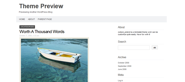 Screenshot of Codium Extended WordPress Theme