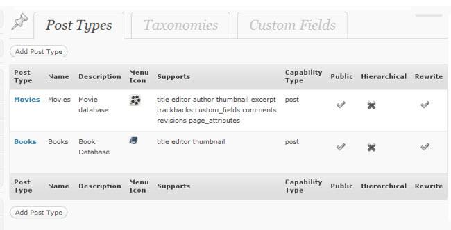 Screenshot of CustomPress