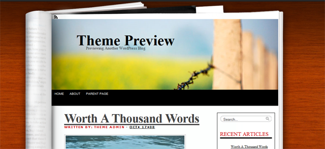 Screenshot of Fresh Ink WordPress Theme