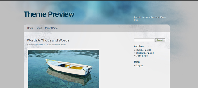 Screenshot of Hamid Bakeri WordPress Theme