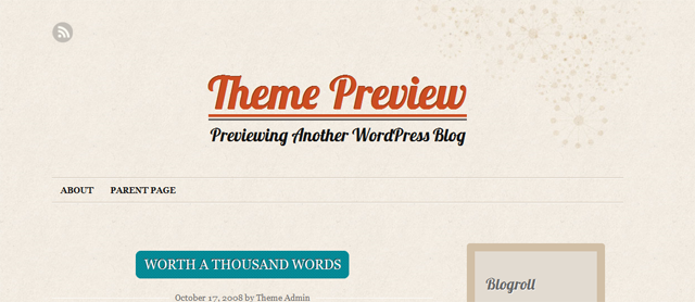 Screenshot of Liquorice WordPress Theme