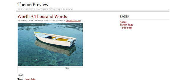 Screenshot of Simply Works WordPress Theme