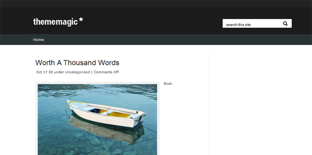 Screenshot of Theme Magic WordPress Theme