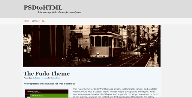 Screenshot of Fudo WordPress Theme