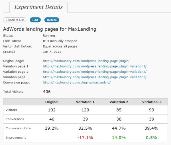 screenshot of max a/b plugin