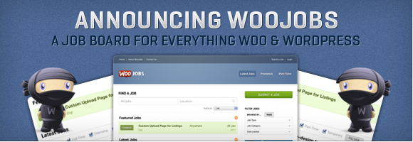 screenshot of WooJobs accouncement