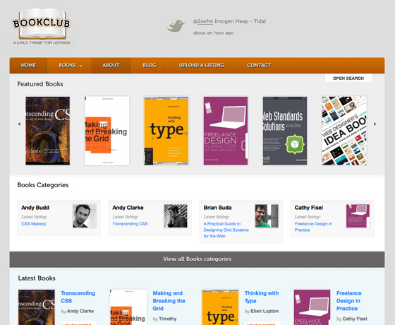 New WooThemes WordPress BookClub Theme - A Goldmine for Affilates ...