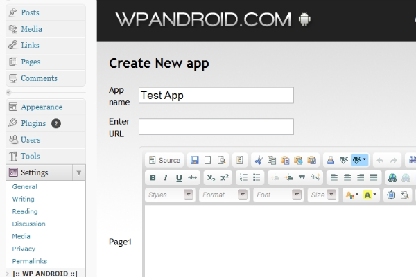 Create and Publish Apps to the Android Market with WordPress