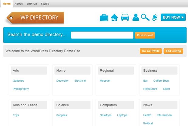 screenshot of wp directory