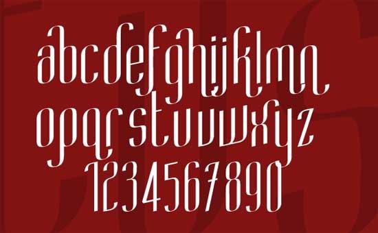 Turken slant Font
