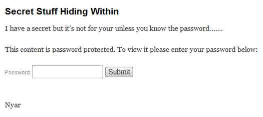 text password protected