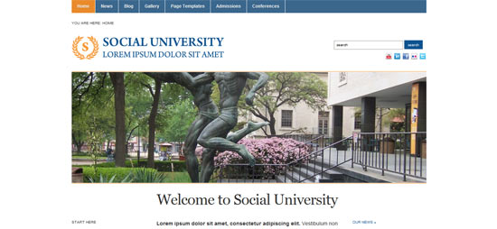 Proud Themes Academica free wordpress theme