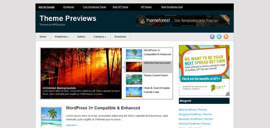 WP Explorer AdCents free wordpress theme