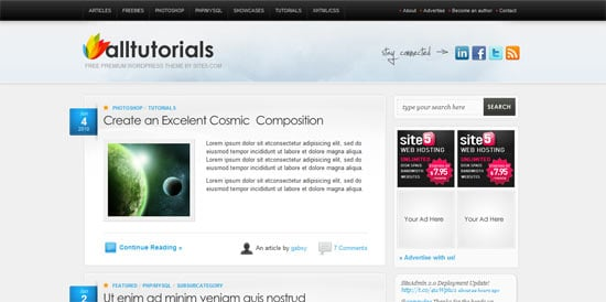 AllTuts free wordpress theme