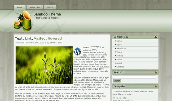 Bamboo Theme free wordpress theme