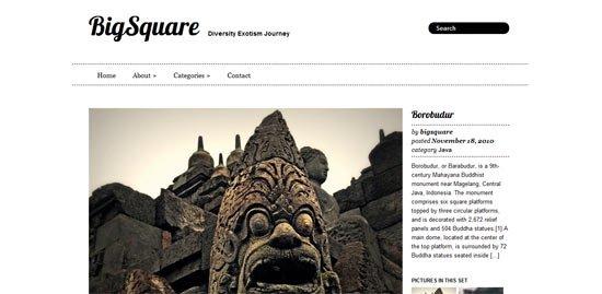 Big Square free wordpress theme